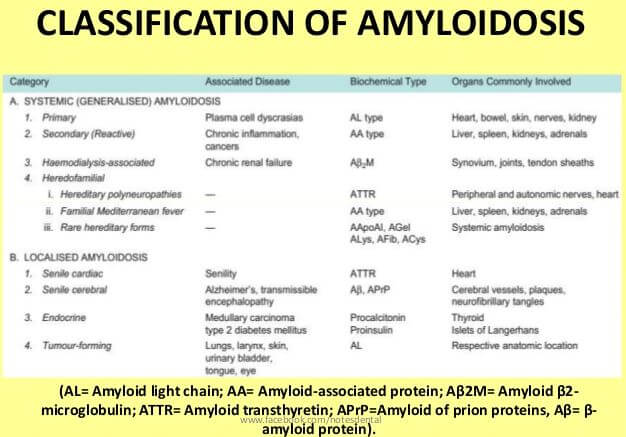Amyloidosis Classification